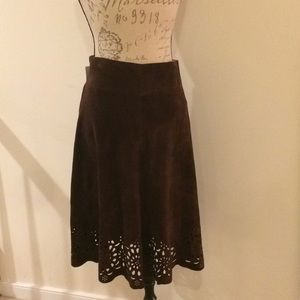 Lilly Pulitzer Suede Cutout Skirt